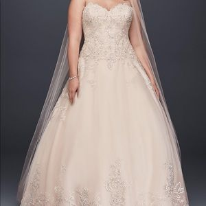 Wedding dress by David a Bridal